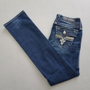 Rock Revival Tori Straight W/Flap Pockets Sz 26/32